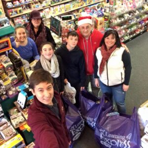 Shopping for toys at the Learning Express in North Beverly 2015